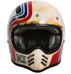 Premier MX BTR 8 Helmet Wht/Red/Blue