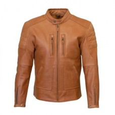 Merlin Draycott Leather Jacket inBrown