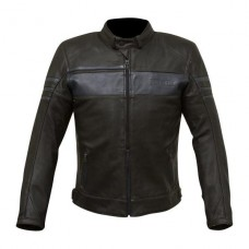 Merlin Holden Leather Jacket Black Blue