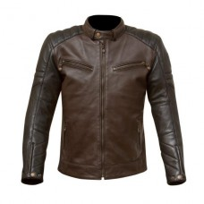 Merlin Chase Leather Jacket Brown Black