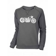 Oily Rag Bobber Sweatshirt Ladies Grey