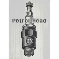 Oily Rag Piston Head Alloy Sign