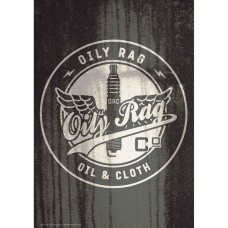 Oily Rag and Cloth Alloy Sign