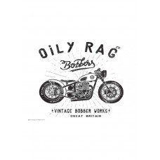 Oily Rag Bobber Works Alloy Sign