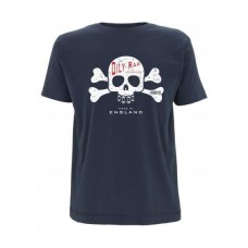 Oily Rag Cross Bones T-Shirt Blue