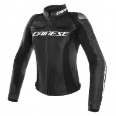 Daines Racing 3 Lady Leather Jacket Black