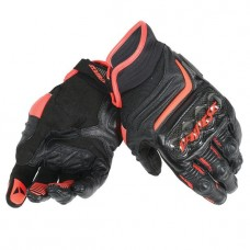 Dainese Carbon D1 Short Glove Blk/Blk/Flo-Red