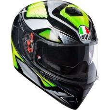 AGV K3 SV Helmet Liquefy Grey Flou-Yellow