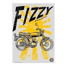 Oily Rag Fizzy Alloy Sign