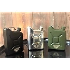 Hip Flask Jerry Can Design 5oz Silver