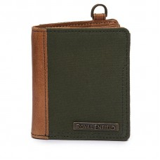 Royal Enfield Canvas Leather Wallet (Tall)
