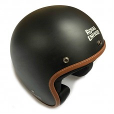 Royal Enfield Leather Edge Helmet Black