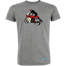 MV Agusta Vintage Rider T Shirt Grey