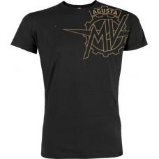 MV Agusta Vintage Logo T Shirt Black