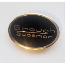 Brough Superior Lapel Badge Blk/Gold