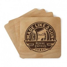 Royal Enfield Wooden Coaster Set